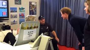 Simulator visit Prince harry 2